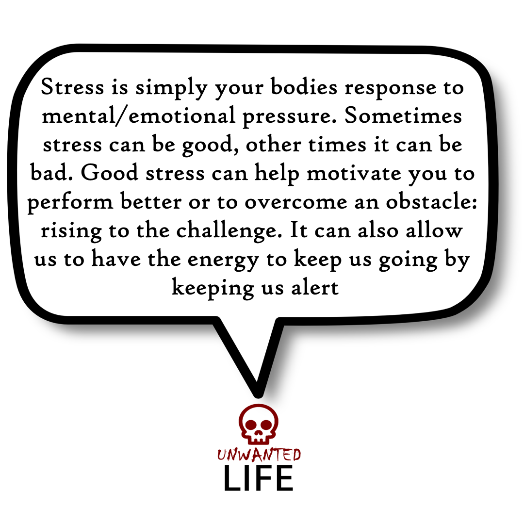 A quote from the blog Unwanted Life's article - 17 Ways To Manage Stress 3