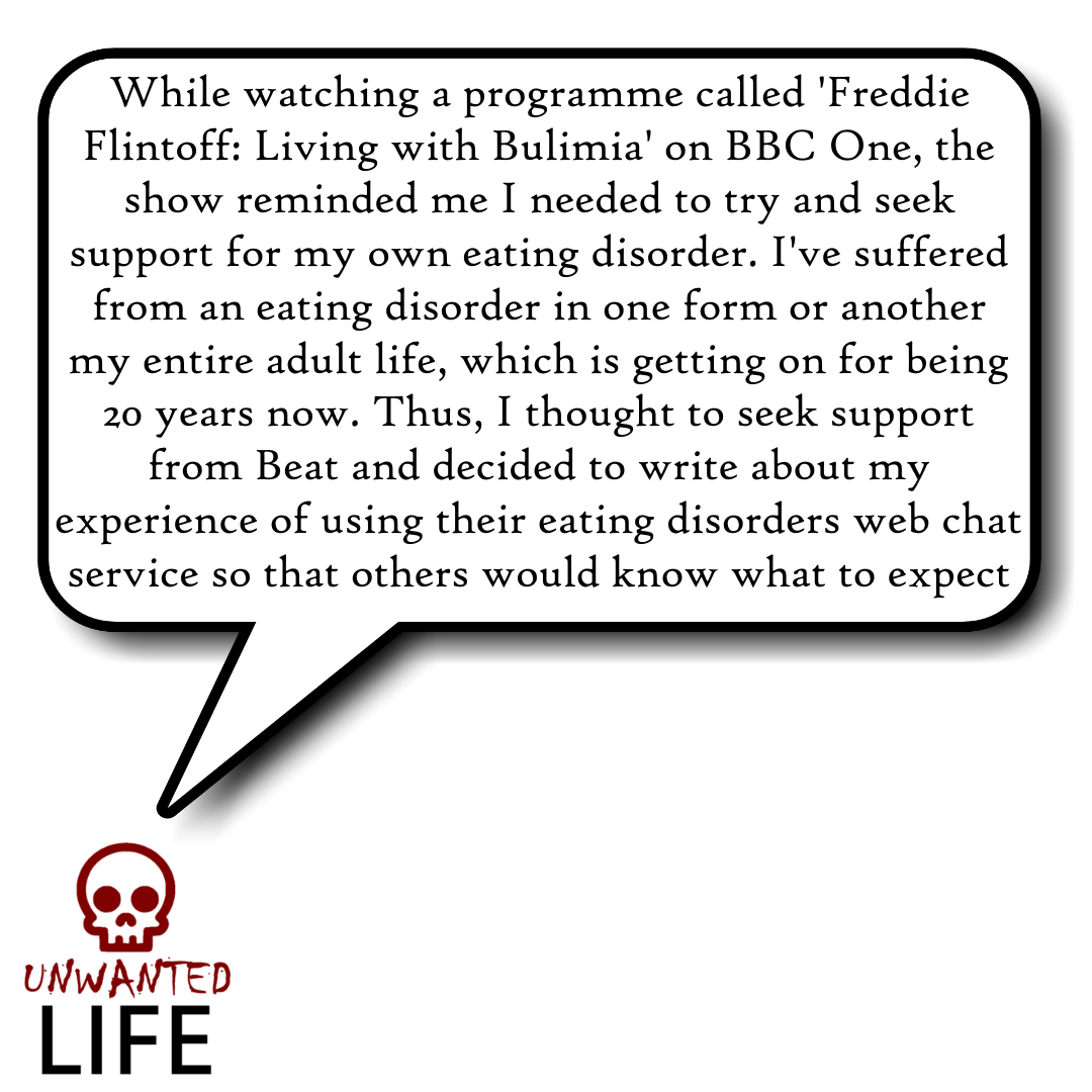 Beat: How Their Eating Disorders Web Chat Works 1 | Mental Health and Wellness | Unwanted Life
