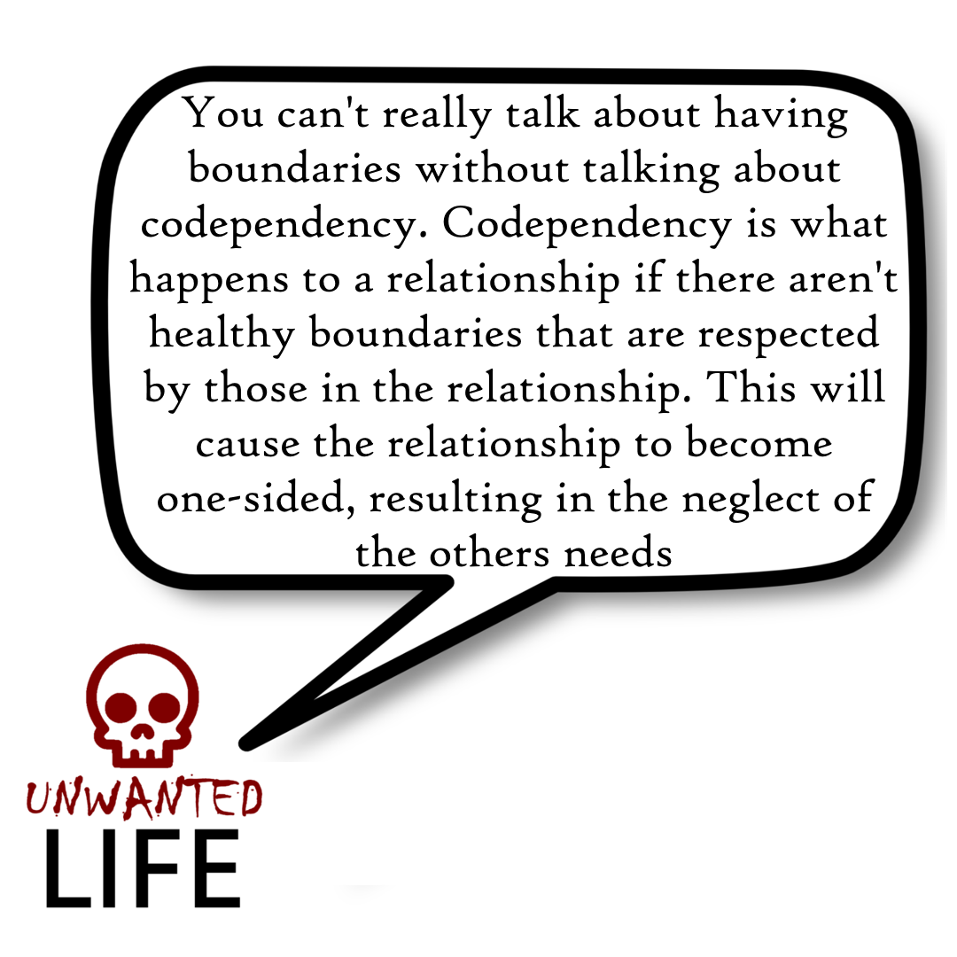 A quote from the blog Unwanted Life's article - How To Set Boundaries And Protect Your Personal Space 3