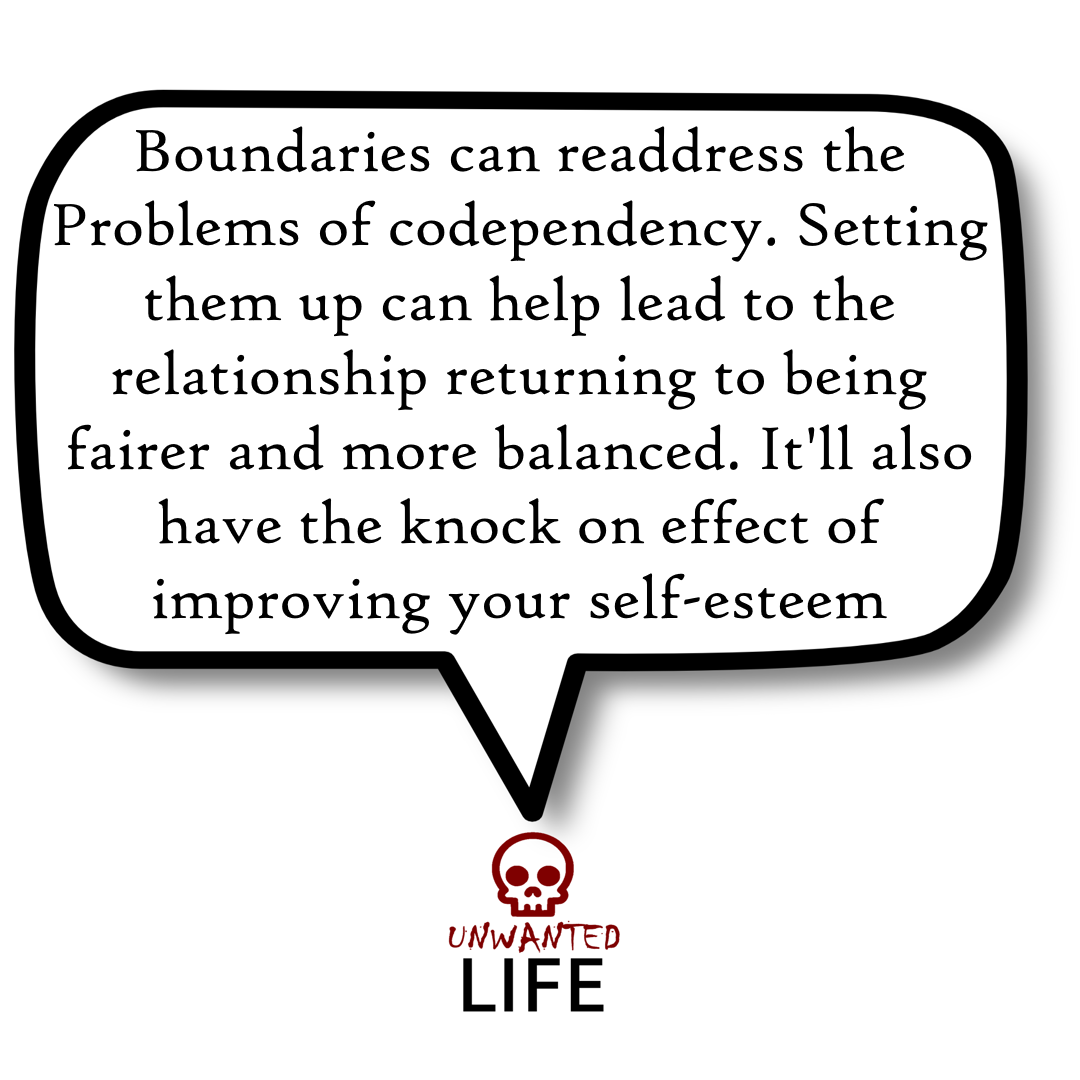 A quote from the blog Unwanted Life's article - How To Set Boundaries And Protect Your Personal Space 4