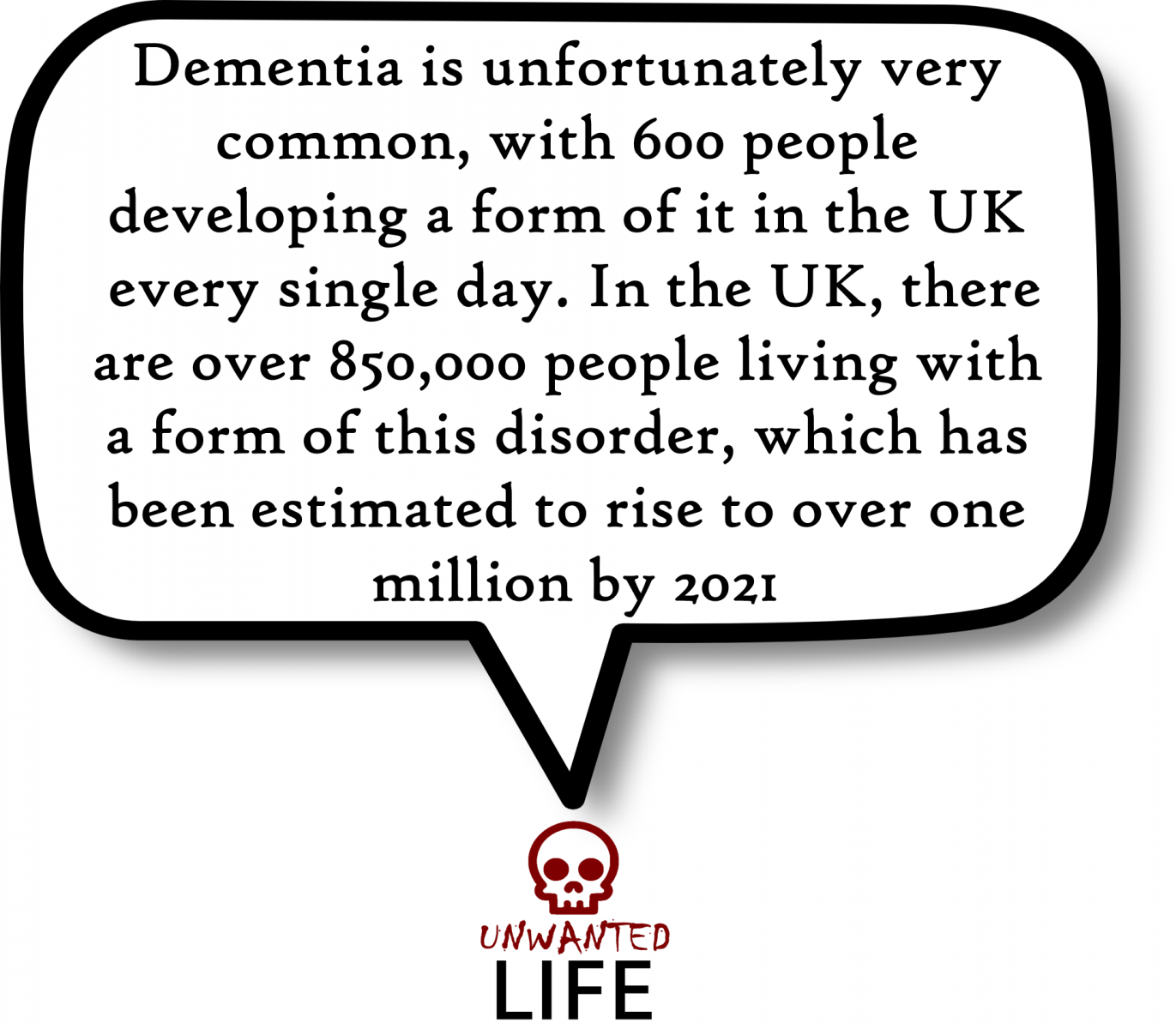 A quote from the blog Unwanted Life's article - What is Dementia? Awareness, Information, And Advice 2