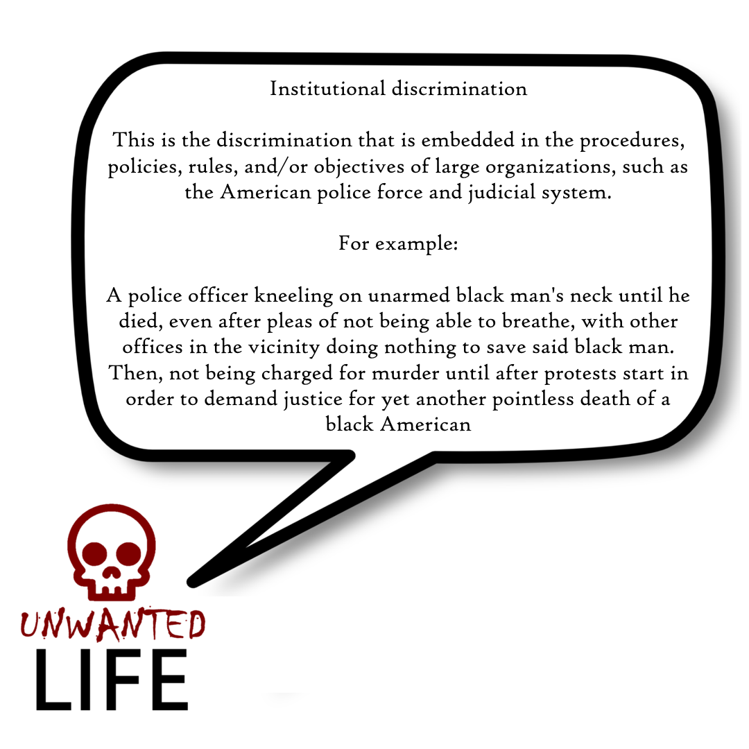 A quote from the blog Unwanted Life's article - Discrimination: Black Lives Matter And LGBTQ+ 2