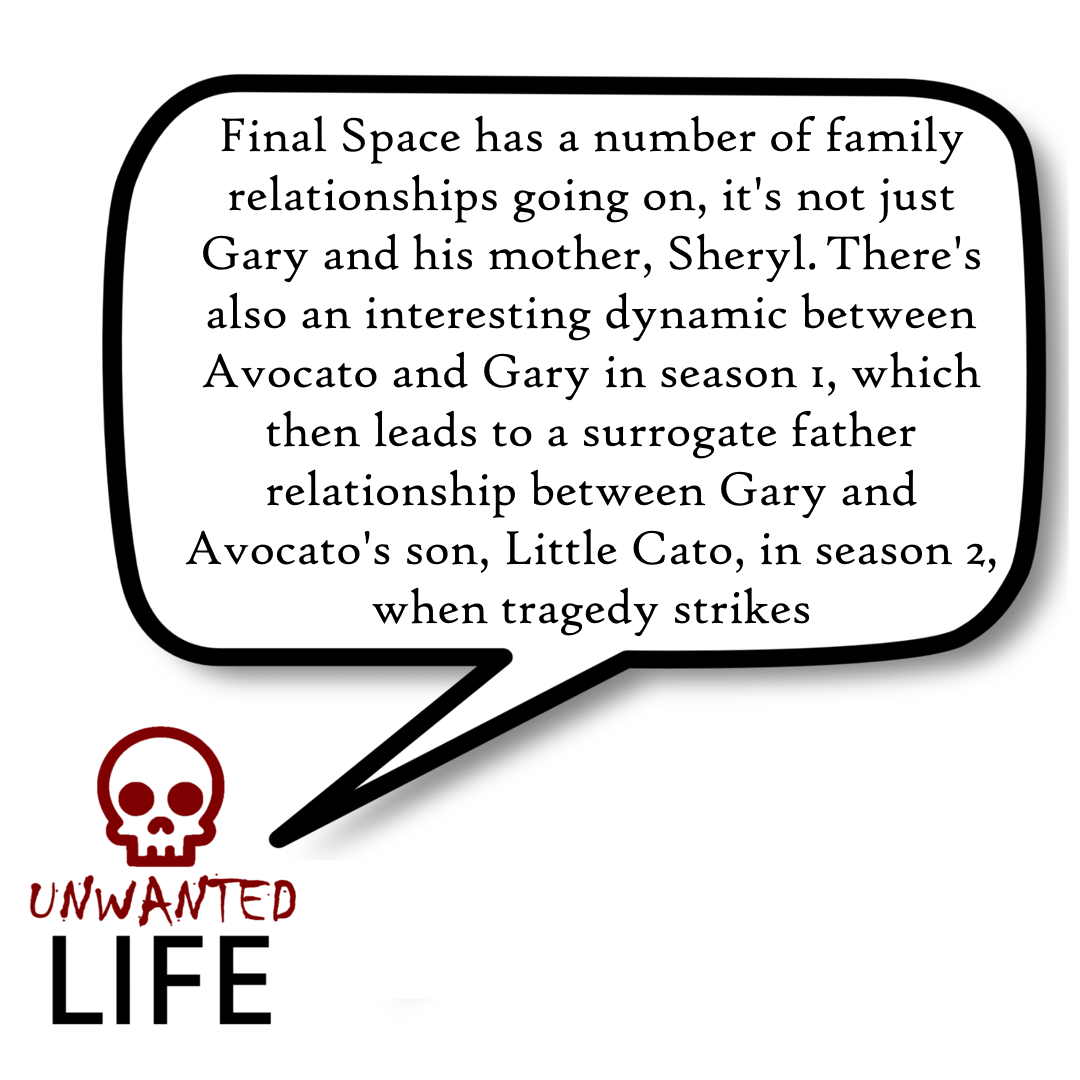 A quote from the blog Unwanted Life's article - Final Space: A Mother's Love 5