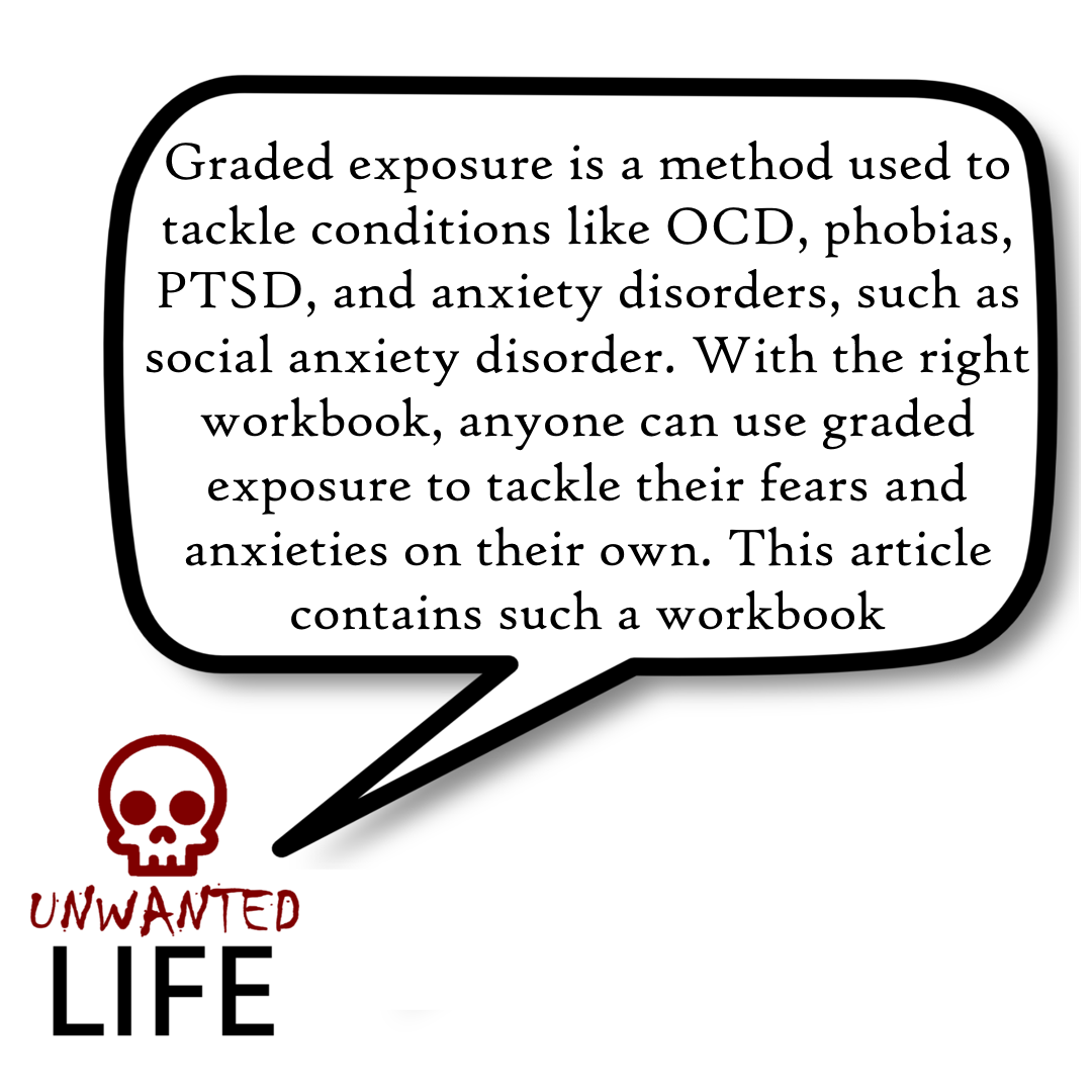 A quote from the blog Unwanted Life's article - Graded Exposure: The Ultimate Method To Tackle Fears 1