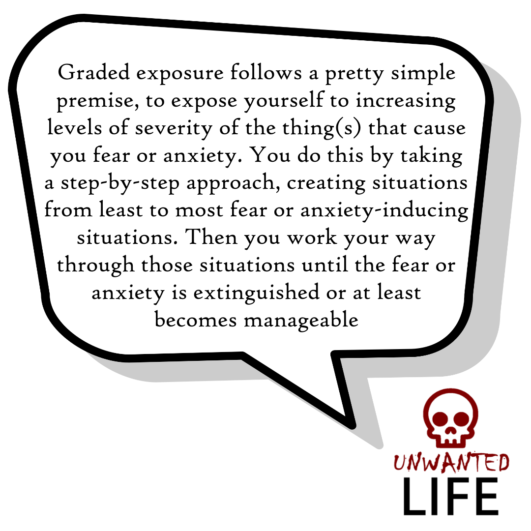 A quote from the blog Unwanted Life's article - Graded Exposure: The Ultimate Method To Tackle Fears 2