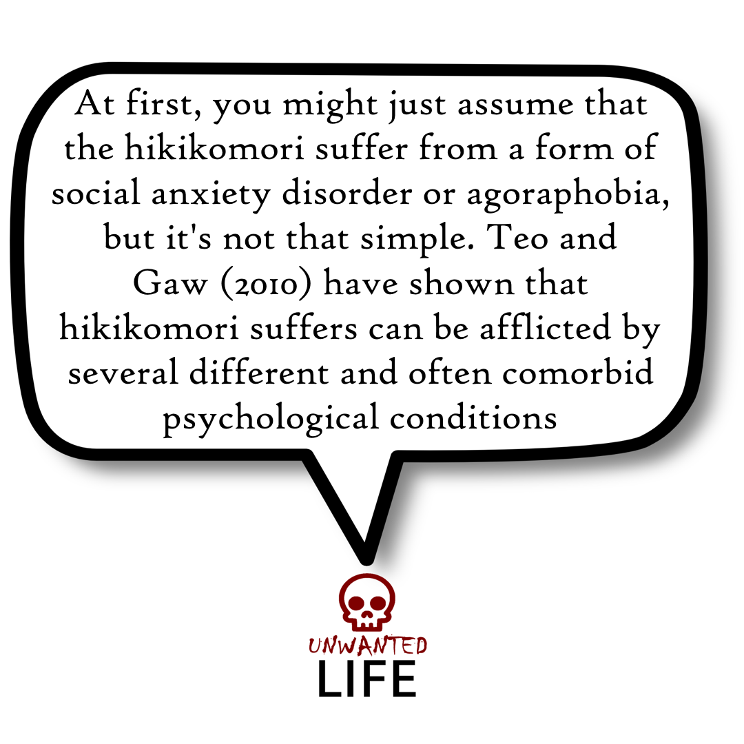 A quote from the blog Unwanted Life's article - Hikikomori: Social Anxiety Or Modern-Day Hermits? 4