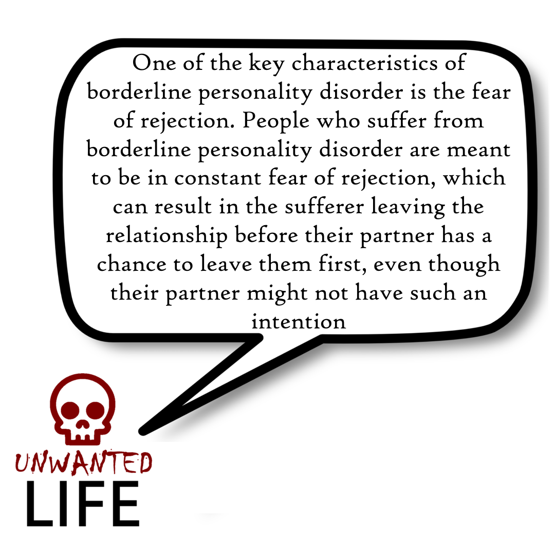 A quote from the blog Unwanted Life's article - Love And Borderline Personality Disorder 1