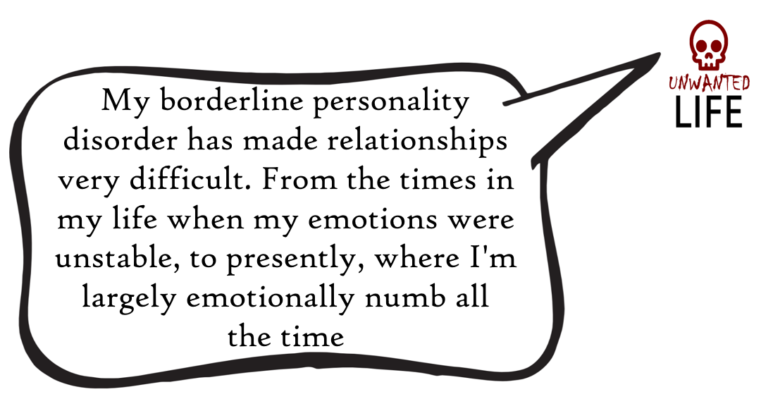 A quote from the blog Unwanted Life's article - Love And Borderline Personality Disorder 4