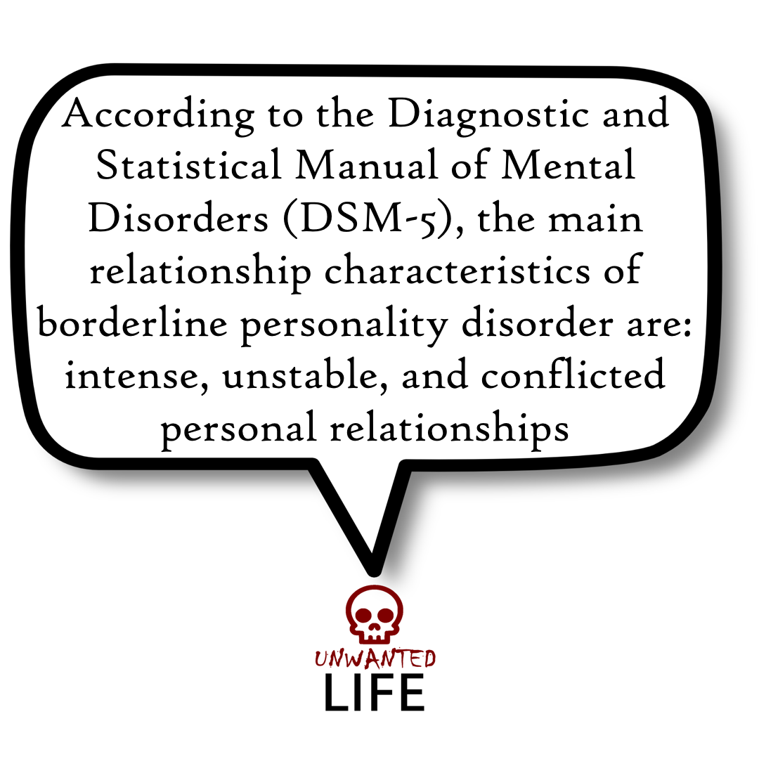 A quote from the blog Unwanted Life's article - Love And Borderline Personality Disorder 5