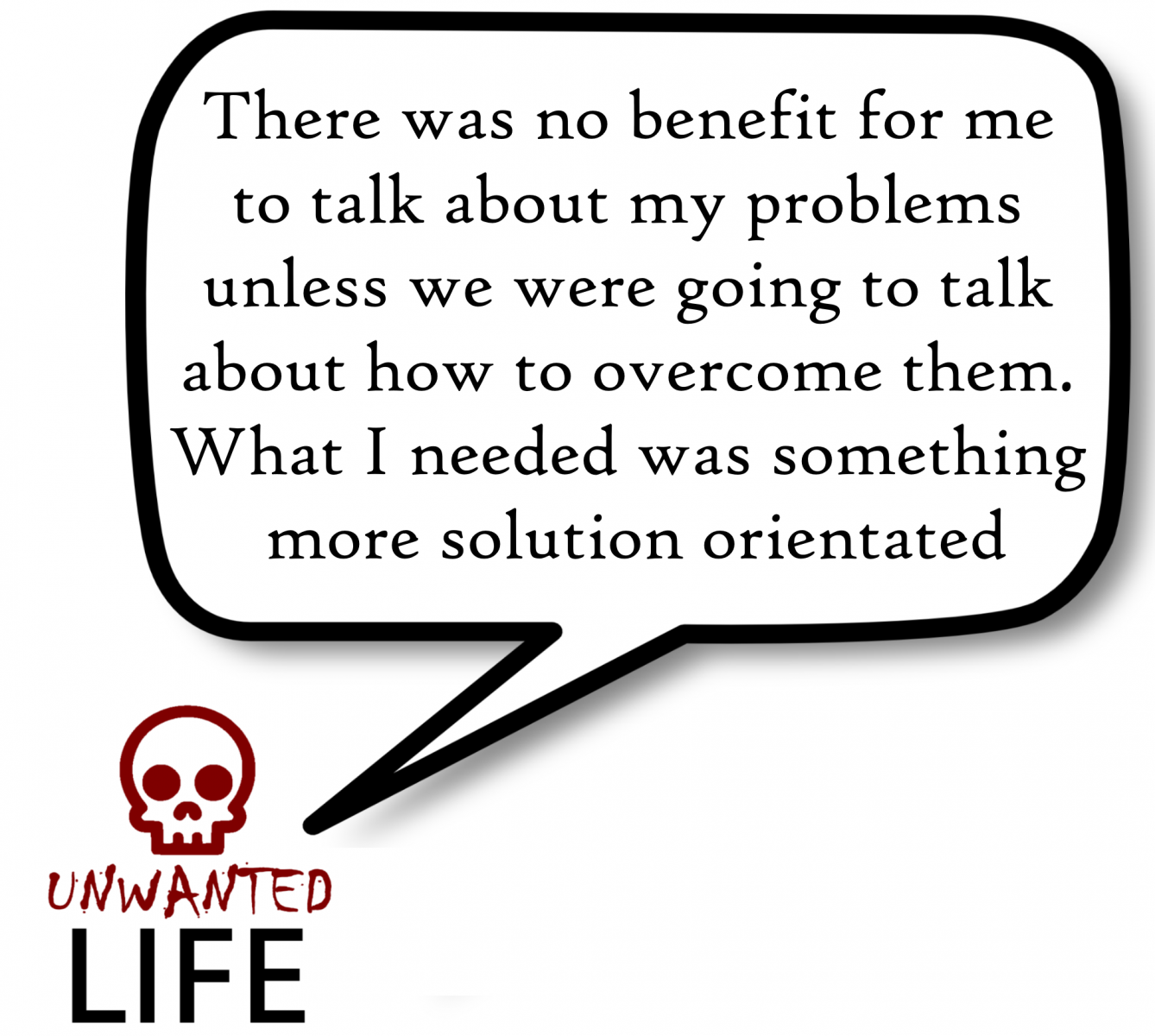 A quote from the blog Unwanted Life's article - My Experience Of Being In Group Therapy: Part 1 - 4