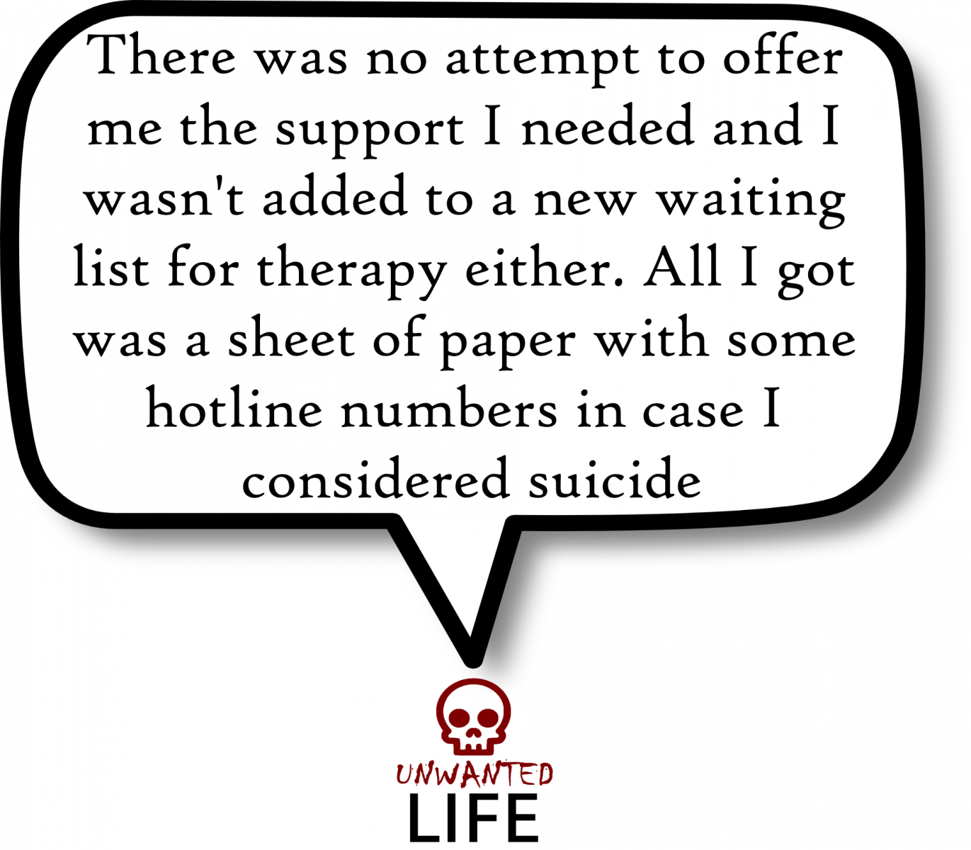 A quote from the blog Unwanted Life's article - My Experience Of Being In One-To-One Schema Therapy 4