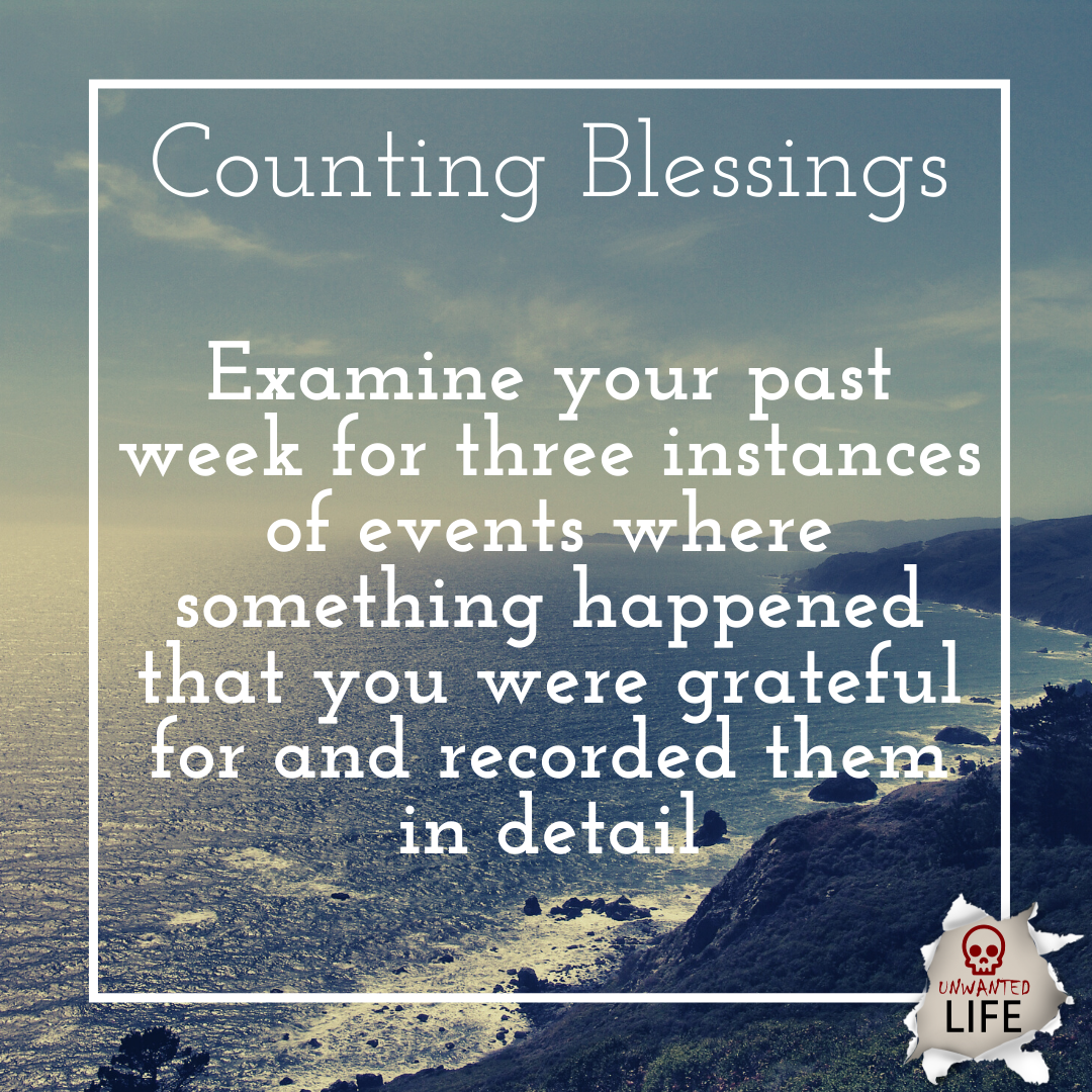 counting blessings | Positive Psychology Intervention | Unwanted Life | Mental Health and Wellness Blog