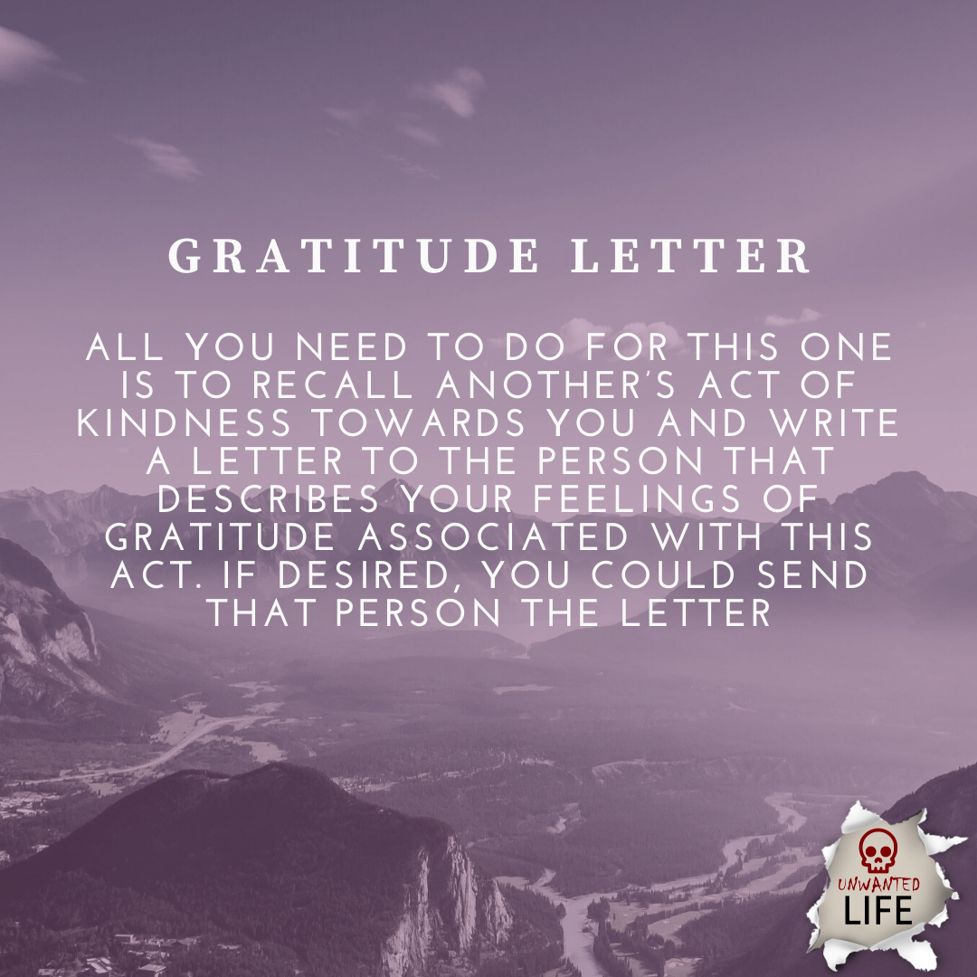 gratitude letter | Positive Psychology Intervention | Unwanted Life | Mental Health and Wellness Blog