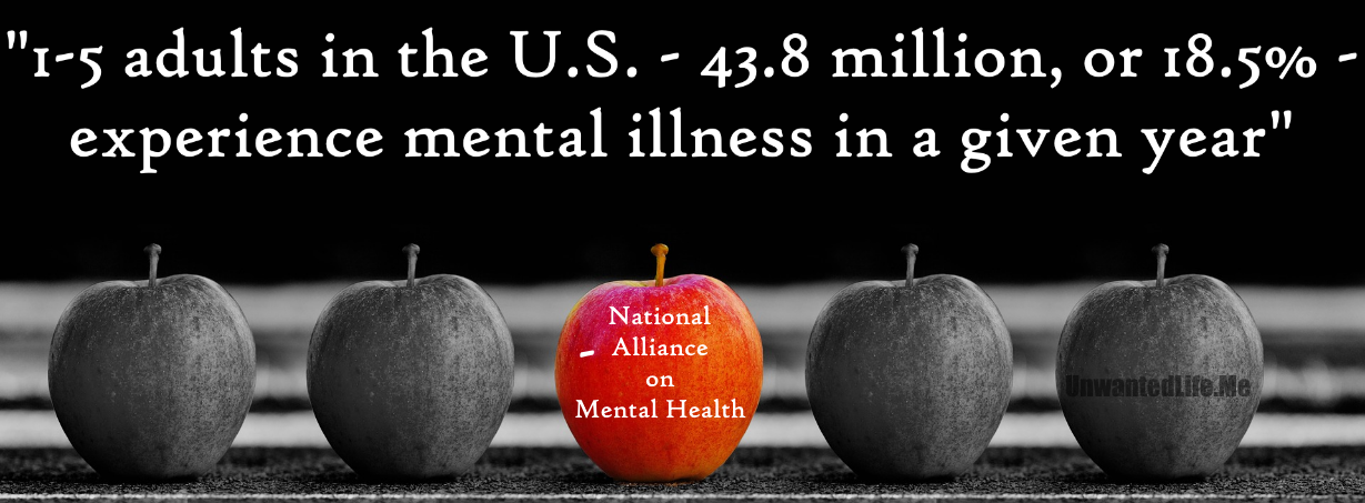 1 in 5  Mental Health Unwanted Life | Mental Health and Wellness