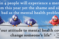 1 in 4 Change  Mental Health Unwanted Life | Mental Health and Wellness