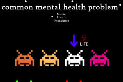 1 in 6 Space Invaders Mental Health Unwanted Life | Mental Health and Wellness