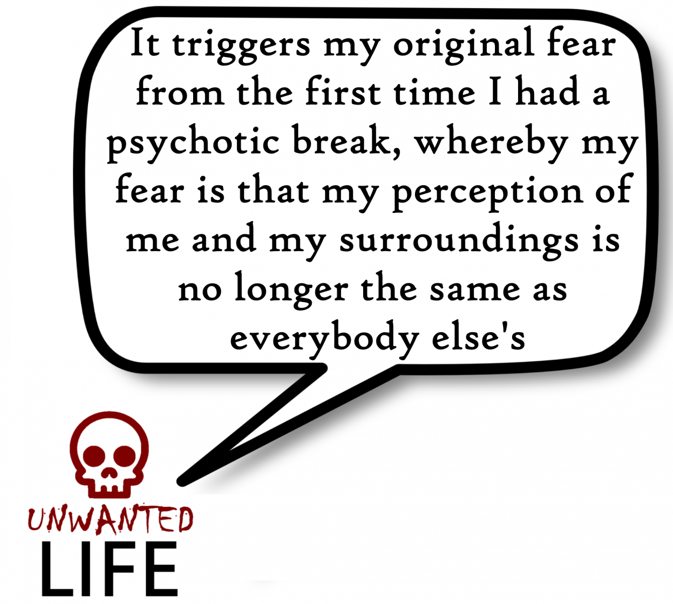 A quote from the blog Unwanted Life's article - The Weird Behaviour Of My Anxiety Disorders 5