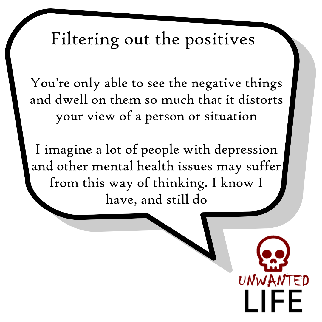 A quote from the blog Unwanted Life's article - What We Know About Thinking Errors 2