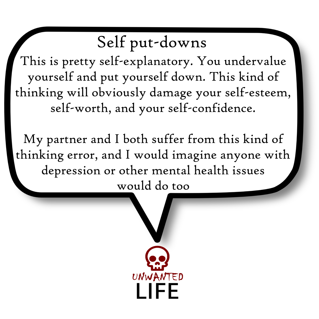A quote from the blog Unwanted Life's article - What We Know About Thinking Errors 4