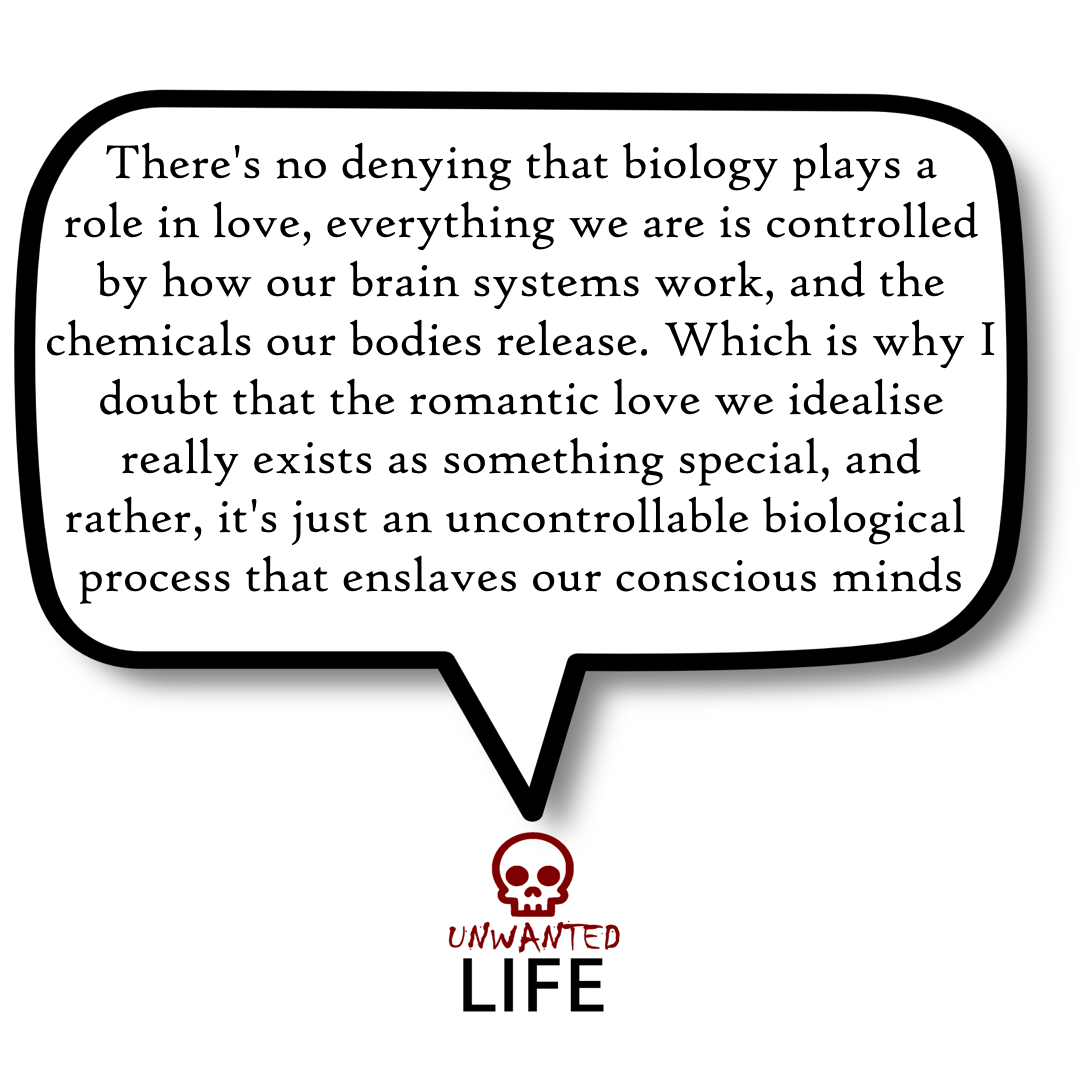 A quote from the blog Unwanted Life's article - What Is Romantic Love? 3