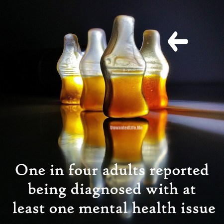 An image to represent 1 in 4 adults being diagnosed with a mental health issue to represent the topic of the article - Mental Health: Painting A Picture Of The Issues With Statistics