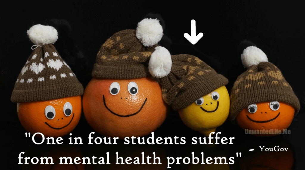 An image to represent 1 in 4 students suffer from a mental illness