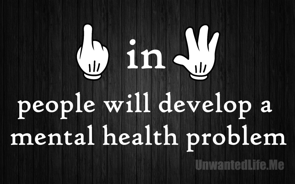 An image to show 1 in 4 people will develop a mental health to represent the topic of the article - Mental Health: Painting A Picture Of The Issues With Statistics