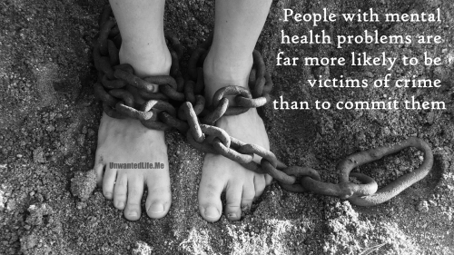 A photo of someone in chains to illustrate that people with mental health problems are more likely to be the victim of crime rather than the perpetrator to represent the topic of the article - Mental Health: Painting A Picture Of The Issues With Statistics