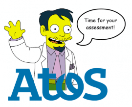 """A picture of Dr Nick from the Simpsons saying """"Time for your assessment!"""""""
