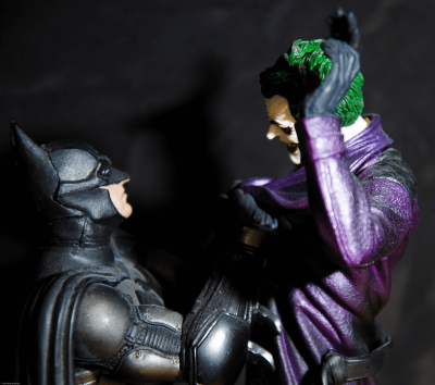 A photo of the action figures of the Batman and Joker fighting to represent the article title - Joker: A Film Review Of Its Portrayal Of Mental Health