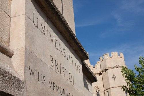A photo of the University of Bristol engrave wall sign at the entrance of their university to represent the topic of the article - Mental Health Support: Is it enough?