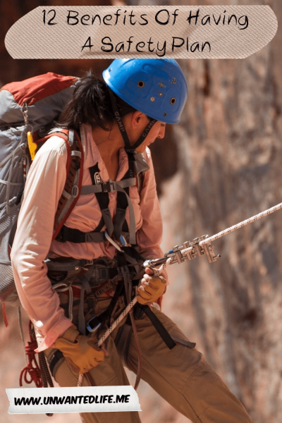 A photo of a woman abseiling to represent the topic of the article - 12 Benefits Of Having A Safety Plan