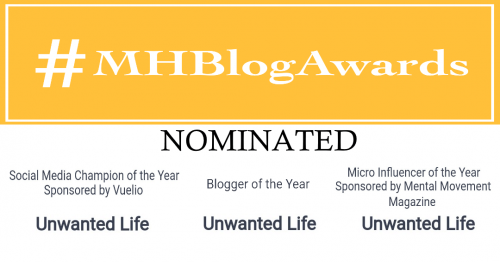 Mental Health Blog Nomination for Unwanted Life | Wellness
