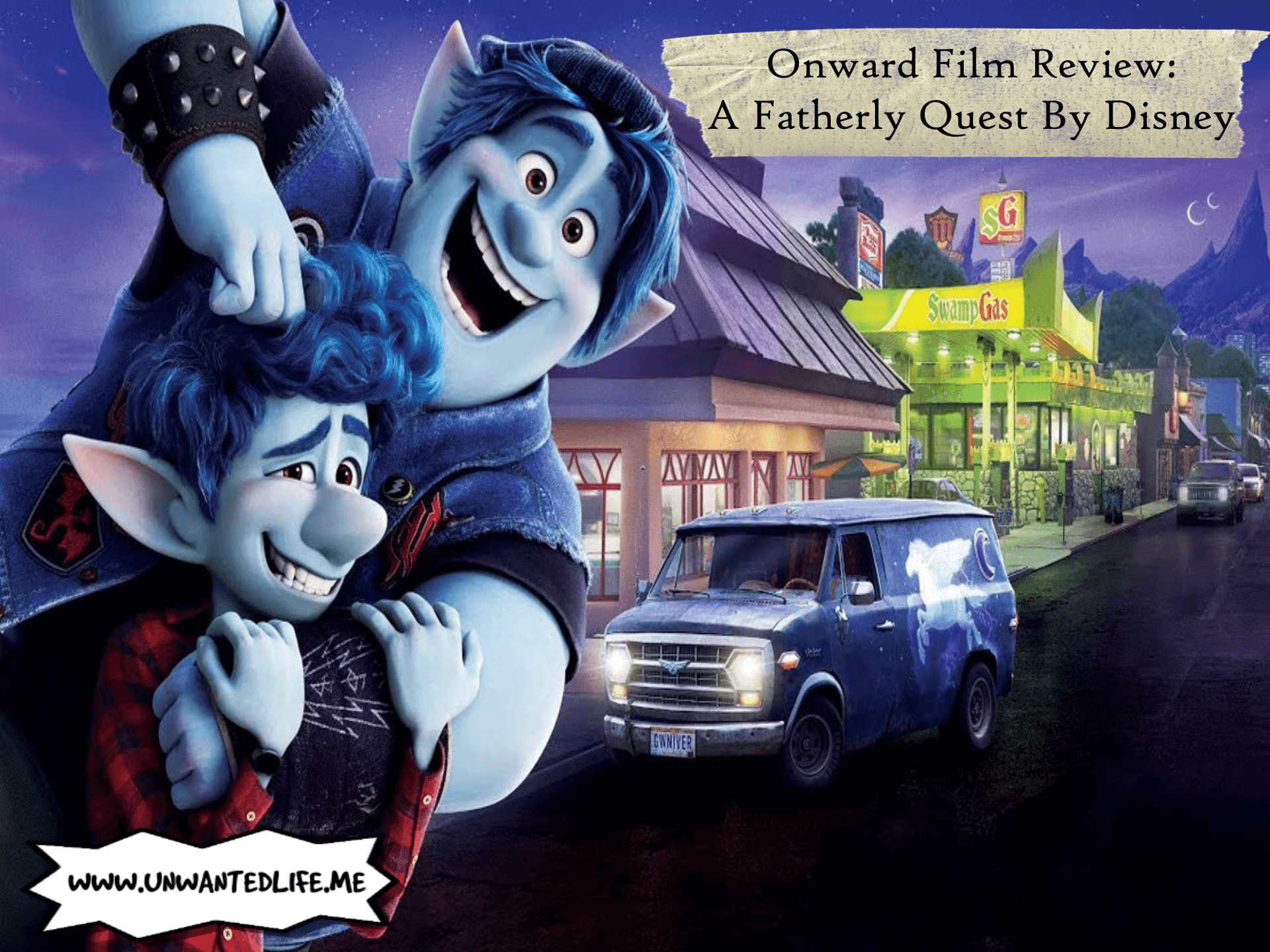 A promo picture from the Disney film 'Onward' to represent the topic of the article - Onward Film Review: A Fatherly Quest By Disney