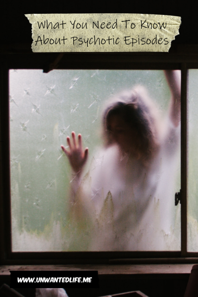 A photo of a woman pressed against the frosted window of a shed to represent - What You Need To Know About Psychotic Episodes
