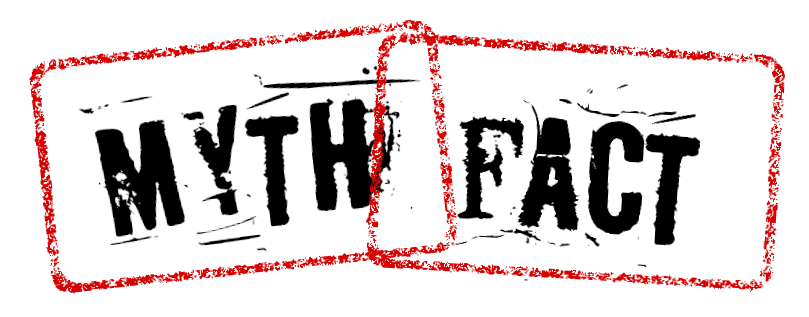 An image of a stamp that says Myth vs Fact