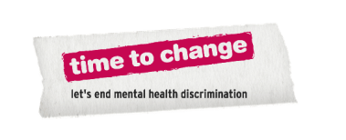 """Time to Change """"let's end mental health discrimination"""" image created for the Ask Twice campaign"""
