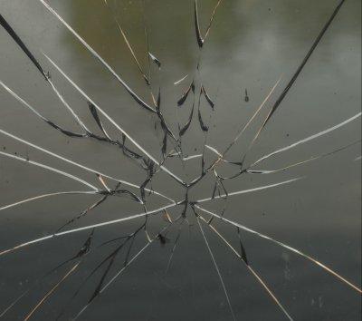 Broken glass to represent a broken mind