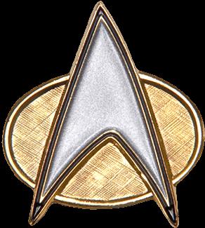 A Star Trek Star Fleet Communicator Badge