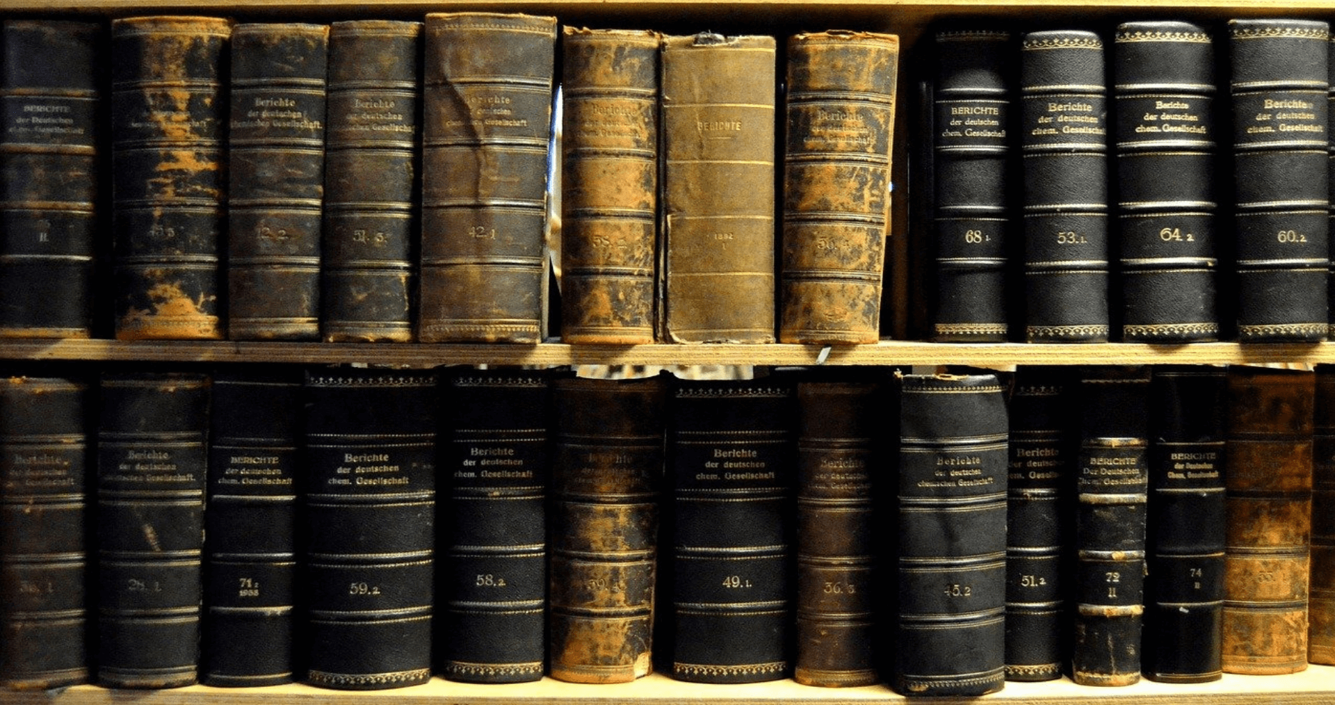 This is the banner image of a bookshelf of old books to represent the took of the page - Resources