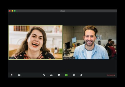 A picture of two people appearing in a group video chat to represent the topic of the article - Zoom Meeting Anxiety And How To Effectively Overcome It