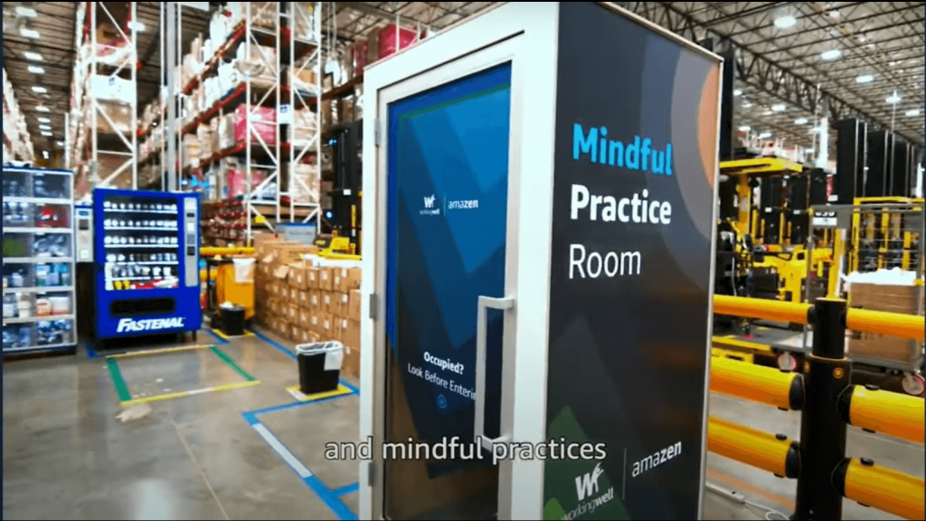 A screenshot taken from Amazon's promotional YouTube video to promote there AmaZen Mindfulness boxes