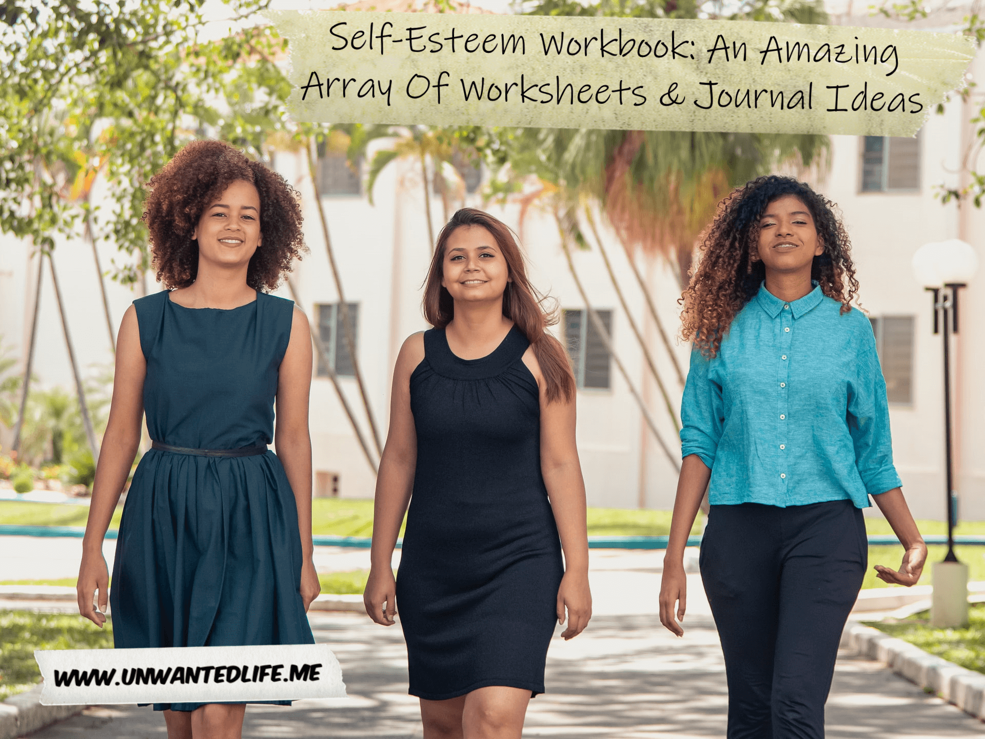 A photo three confident women of black and brown heritage walking together to represent the topic of the article